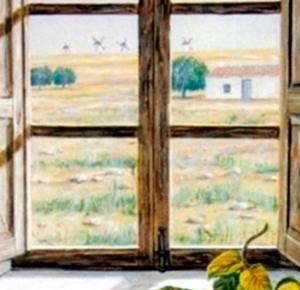 Entre membrillos contemplo La Mancha